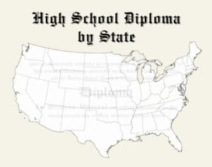 Fake High School Diploma by State