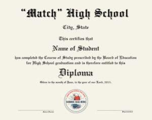 fake high school diploma match
