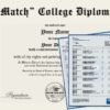 Fake College Diploma Replica and Transcripts