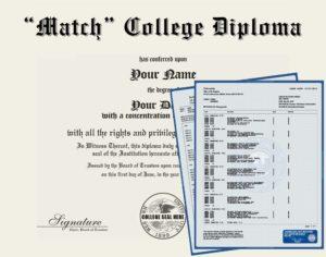 Fake College Diploma Replica and Transcripts
