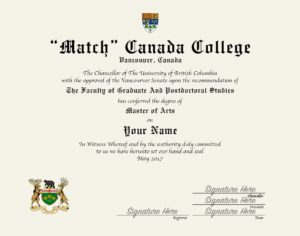 Fake College Diploma Canada