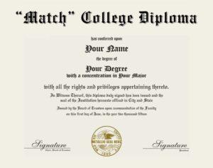 Fake College Diploma Replica with metallic seal
