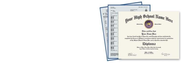 Fake diploma with fake transcripts