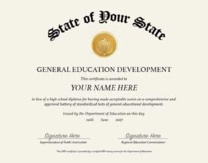 Fake GED Diploma