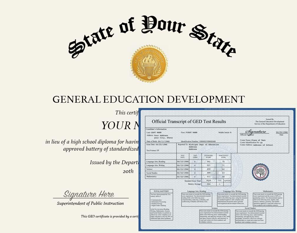 Ged Diploma And Transcripts Today Diploma Press