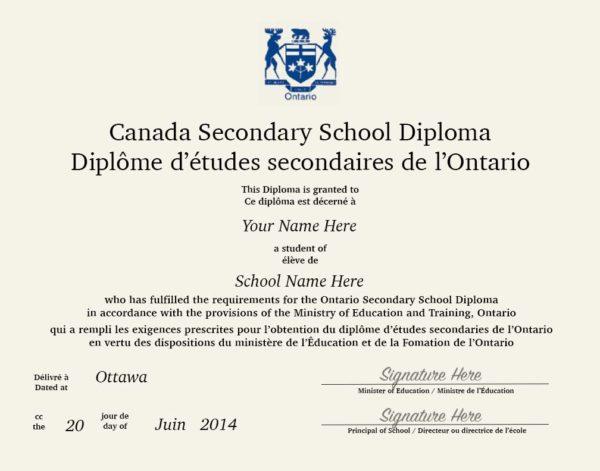 Fake Secondary Diploma Canada